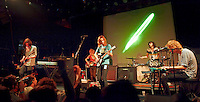 The psychedelic rock band Tame Impala performing at Music Hall of Williamsburg in Brooklyn, NY on 11/07/2012.