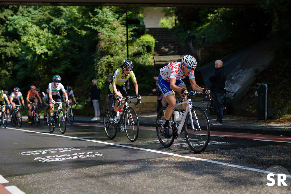 Winanda Spoor (Lensworld Zannata) attacks on the Cauberg at the 119 km Stage 6 of the Boels Ladies Tour 2016 on 4th September 2016 from Bunde to Valkenburg, Netherlands. (Photo by Sean Robinson/Velofocus).