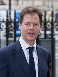 LONDON- UK- 03- MAR-2014: Britain's Prince Harry represents The Queen at a National Service of Thanksgiving to celebrate the life of Nelson Mandela, former President of the Republic of South Africa. Westminster Abbey, London.<br /> Nick Clegg, Dep P.M.<br /> Photograph by Ian Jones