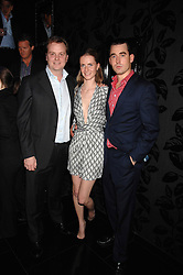 Left to right, ALEXANDER BAILEY, CHLOE DELEVINGNE and her fiance LOUIS BUCKWORTH the men are the co-owners of the club at the opening of the new club Chloe, 3 Cromwell Road, London on 7th June 2007.<br /><br />NON EXCLUSIVE - WORLD RIGHTS