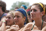 MANCHESTER, TN - JUNE 12:   Fans watch Animal Collective perform at the 2009 Bonnaroo Music and Arts Festival on June 12, 2009 in Manchester, Tennessee. Photo by Bryan Rinnert/3Sight Photography