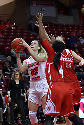 01 January 2017: Millie Stevens during an NCAA Missouri Valley Conference Women's Basketball game between Illinois State University Redbirds the Braves of Bradley at Redbird Arena in Normal Illinois.