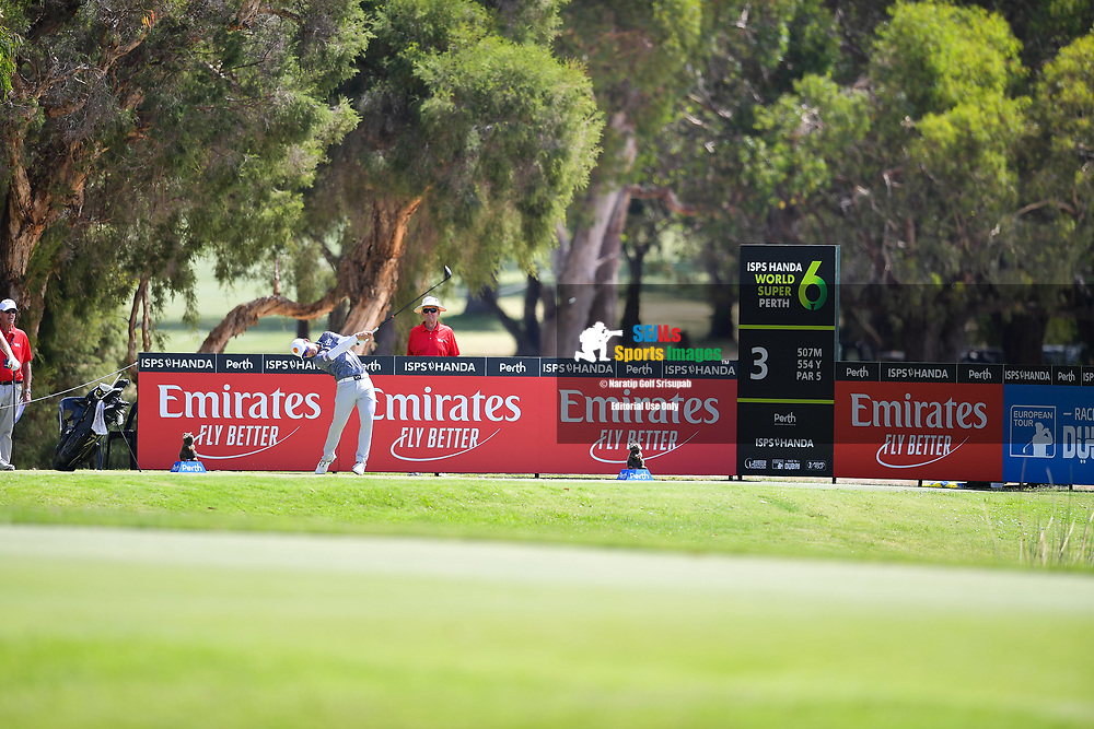 PERTH, AUSTRALIA - FEBRUARY 16: Jazz Janewattananond (THA) on the 3rd tee during the 3rd round of the ISPS Handa World Super 6, Lake Karrinyup Country Club, Perth, Western Australia, on February 16, 2019. <br /> .<br /> .<br /> .<br /> (Photo by: Naratip Golf Srisupab/SEALs Sports Images)<br /> .<br /> Any image use must include a mandatory credit line adjacent to the content which should read: Naratip Golf Srisupab/SEALs Sports Images