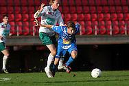 12.09.2009, Ratina, Tampere, Finland..Veikkausliiga 2009 - Finnish League 2009.Tampere United - IFK Mariehamn.Jonne Hjelm (TamU) v Wilhelm Ingves (IFK Mhamn).©Juha Tamminen.