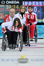 Ina Forrest, Dennis Thiessen, Sonja Gaudet, Svetlana Pakhomova, Wheelchair Curling Finals at the 2014 Sochi Winter Paralympic Games, Russia