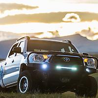 toyota tacoma trd offroad pro white mountain background