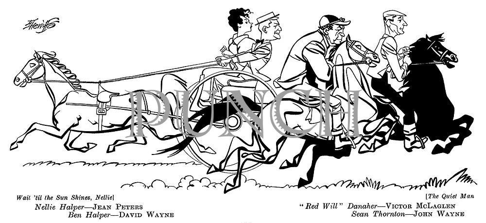 Wait 'Til the Sun Shines Nellie ; Jean Peters and David Wayne ...The Quiet Man ; Victor McLaglen and John Wayne ...