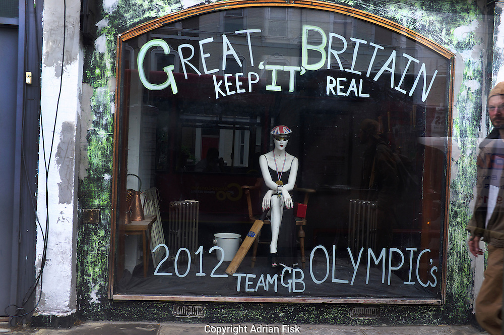 A retro furniture shop in West London celebrates the Olympics