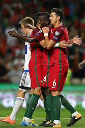 August 31, 2017 - Porto, Porto, Portugal - Portugal's midfielder William Carvalho (C) celebrates after scoring a goal during the FIFA World Cup Russia 2018 qualifier match between Portugal and Faroe Islands at Bessa Sec XXI Stadium on August 31, 2017 in Porto, Portugal. (Credit Image: © Dpi/NurPhoto via ZUMA Press)