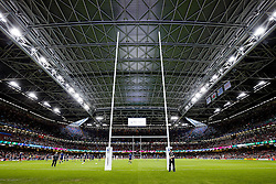 General View inside the Millenium Stadium as the teams warm up - Mandatory byline: Rogan Thomson/JMP - 07966 386802 - 20/09/2015 - RUGBY UNION - Millennium Stadium - Cardiff, Wales - Wales v Uruguay - Rugby World Cup 2015 Pool A.