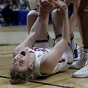 UNCASVILLE, CONNECTICUT- DECEMBER 4:  Katie Lou Samuelson #33 of the Connecticut Huskies after a charging foul by Joyner Holmes #24 of the Texas Longhorns during the UConn Huskies Vs Texas Longhorns, NCAA Women's Basketball game in the Jimmy V Classic on December 4th, 2016 at the Mohegan Sun Arena, Uncasville, Connecticut. (Photo by Tim Clayton/Corbis via Getty Images)