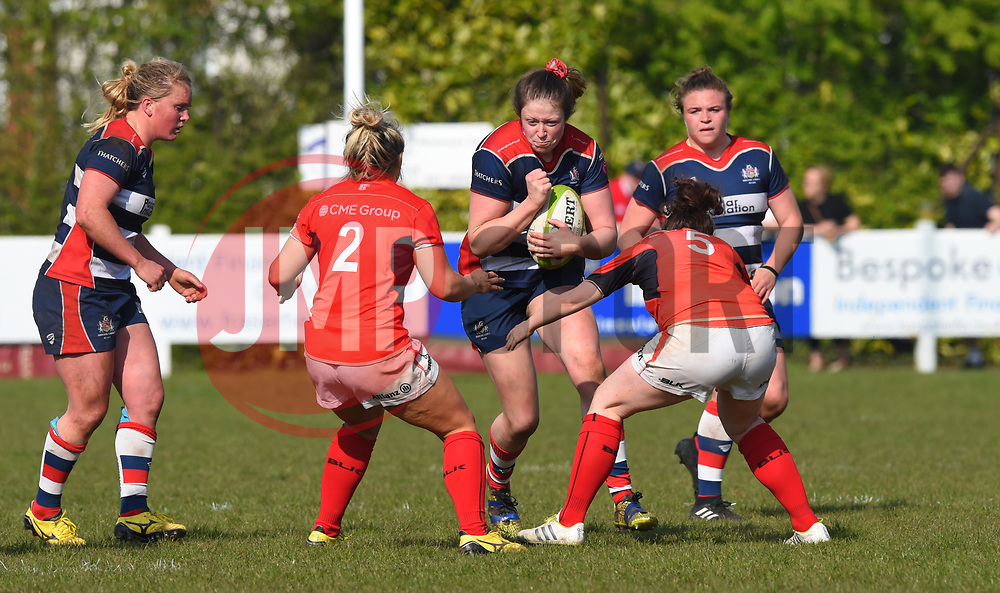 Amelia Buckland-Hurry of Bristol Ladies in action against Saracens Women - Mandatory by-line: Paul Knight/JMP - 09/04/2017 - RUGBY - Cleve RFC - Bristol, England - Bristol Ladies v Saracens Women - RFU Women's Premiership Play-off Semi-Final