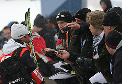 Journalists in mix zone  at FIS Nordic World Ski Championships Liberec 2008, on February 22, 2009, in Vestec, Liberec, Czech Republic. (Photo by Vid Ponikvar / Sportida)