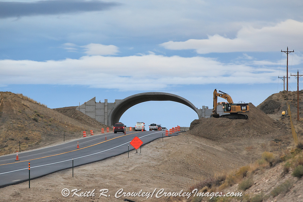 Wildlife Bridge under construction, CO Hwy 9, south of Kremmling, Colorado.