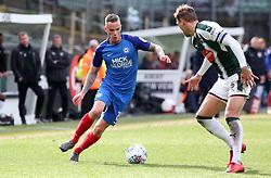 Joe Ward of Peterborough United takes on Gary Sawyer of Plymouth Argyle - Mandatory by-line: Joe Dent/JMP - 07/04/2018 - FOOTBALL - Home Park - Plymouth, England - Plymouth Argyle v Peterborough United - Sky Bet League One
