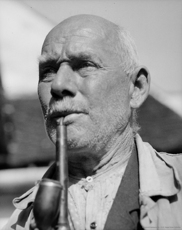 Old Man Smoking Pipe, Probably Molln, Austria, 1931