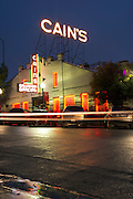 View of Cain's Ballroom in the Brady District following a rain storm on Friday, October 18, 2013, in Tulsa, Oklahoma.