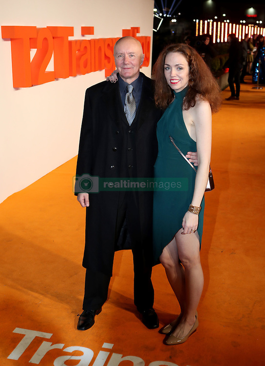 Irvine Welsh and Beth Quinn arriving at the world premiere of Trainspotting 2 at Cineworld in Edinburgh.