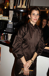 PRINCESS ROSSARIO OF BULGARIA at a jewellery party hosted by Osanna Visconti and Pia Marocco at Allegra Hick's shop, 28 Cadogan Place, London on 25th November 2004.<br />