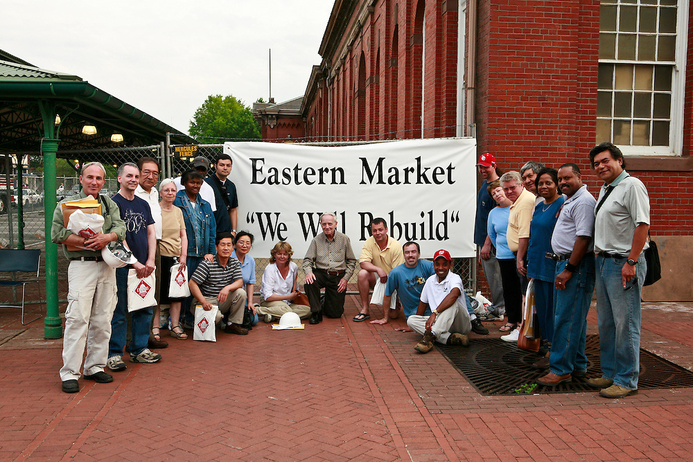The South Hall merchants vow to rebuild their businesses after the fire at Historic Eastern Market.