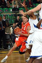 Nebojsa Joksimovic (7) of Hemofarm during first semi-final match of Basketball NLB League at Final four tournament between KK Zadar, Croatia and Hemofarm Stada, Vrsac, Serbia, on April 25, 2008, in Arena Tivoli in Ljubljana. Match was won by Hemofarm Stada, who defeated KK Zadar with 81:72. (Photo by Vid Ponikvar / Sportal Images)