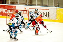 Shot during ice-hockey match between HK Acroni Jesenice and EHC Liwest Black Wings Linz in 43rd Round of EBEL league, on Januar 17, 2012 at Dvorana Podmezaklja, Jesenice, Slovenia. (Photo By Urban Urbanc / Sportida)