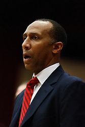January 27, 2011; Stanford, CA, USA;  Stanford Cardinal head coach Johnny Dawkins on the sidelines against the Oregon Ducks during the first half at Maples Pavilion.  Oregon defeated Stanford 67-59.