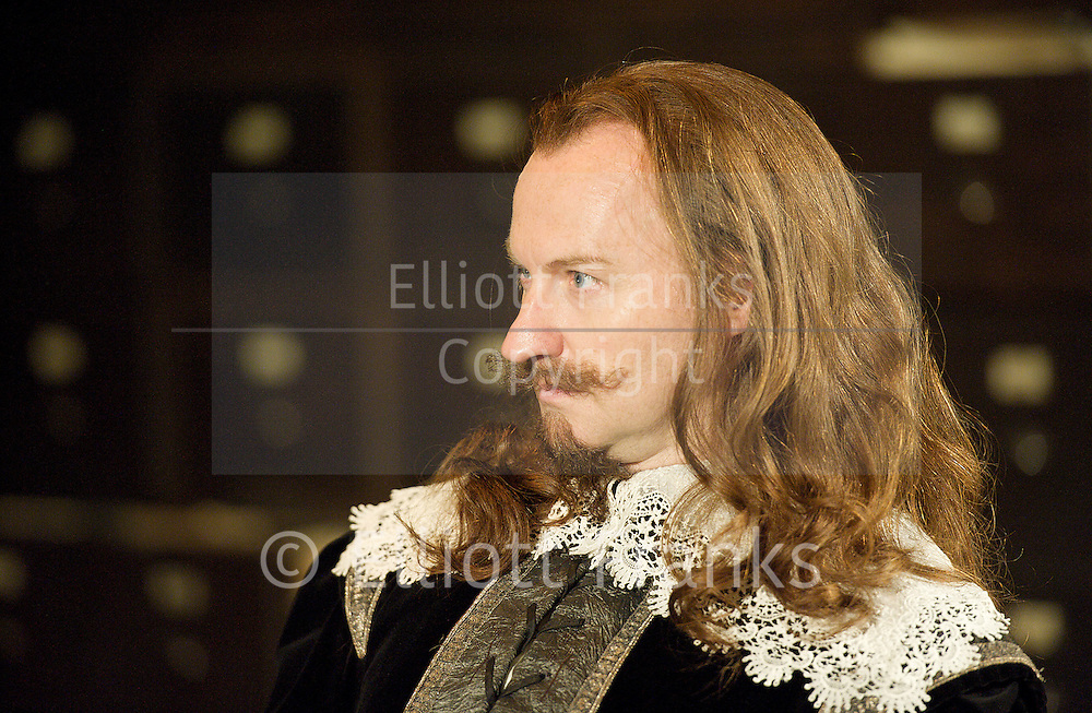 55 Days <br /> by Howard Brenton <br /> at Hampstead Theatre, London, Great Britain <br /> press photocall<br /> 22nd October 2012 <br /> <br /> directed by Howard Davies<br /> <br /> Douglas Henshall as Cromwell<br /> Mark Gatiss as Charles<br /> <br /> Photograph by Elliott Franks