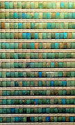 Wall decoration from the funery apartment of King Djoser. ca 2630-2611 BC. blue and green faience