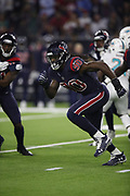 Houston Texans linebacker Jadeveon Clowney (90) in action during the NFL week 8 regular season football game against the Miami Dolphins on Thursday, Oct. 25, 2018 in Houston. The Texans won the game 42-23. (©Paul Anthony Spinelli)