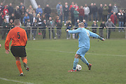 Fairfield goal - Fairfield (blue) v Cranhill (Tangerine) - Fosters Scottish Sunday Cup Semi Final North End Park<br /> <br />  - &copy; David Young - www.davidyoungphoto.co.uk - email: davidyoungphoto@gmail.com