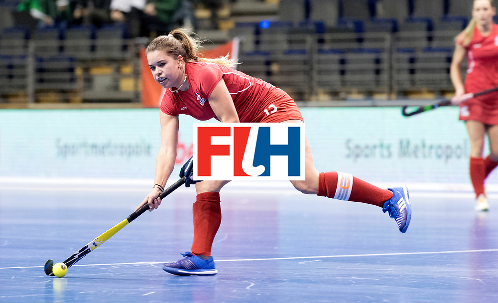 BERLIN - Indoor Hockey World Cup<br /> Women: Russia - Czech Republic<br /> foto: LEHOVCOVA Adela.<br /> WORLDSPORTPICS COPYRIGHT FRANK UIJLENBROEK
