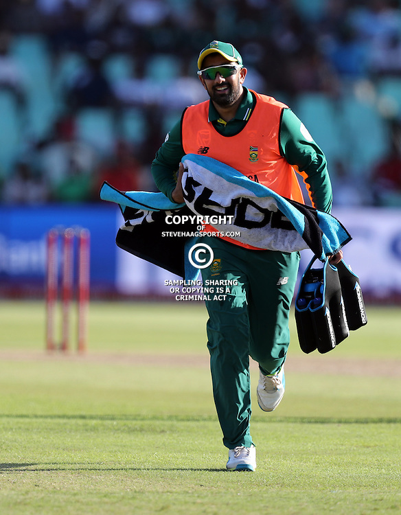 Tabraiz Shamsi of the (South African Proteas) during the 2nd ODI Momentum One-Day International (ODI) series South African and Sri Lanka at Kingsmead, Durban, South Africa.1st February 2017 - (Photo by Steve Haag)