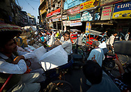 Traffic jam, Paharganj, Delhi, India