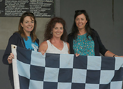 Gillian Furlong, Fionnulla McLaughlin and Anne Kelly watching the Feile matches at Westport GAA club on saturday last.<br />Pic Conor McKeown