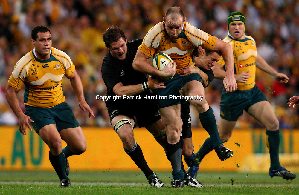 Stirling Mortlock.All Blacks v Australia Tri Nations Rugby Union Test Match. Suncorp Stadium ,Brisbane. Australia,Saturday 13 September 2008 .