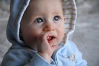 I love his baby blues!