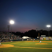 A general view of the ball park during the New Britain Rock Cats Vs Binghamton Mets Minor League Baseball game at New Britain Stadium, New Britain, Connecticut, USA. 2nd July 2014. Photo Tim Clayton