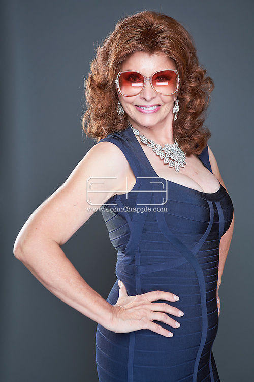 February 22, 2016. Las Vegas, Nevada.  The 22nd Reel Awards and Tribute Artist Convention in Las Vegas. Celebrity lookalikes from all over the world gathered at the Golden Nugget Hotel for the annual event. Pictured is Sophia Loren Lookalike, Vera Novack.<br /> Copyright John Chapple / www.JohnChapple.com /