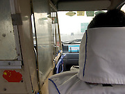 inside a taxi Beijing China