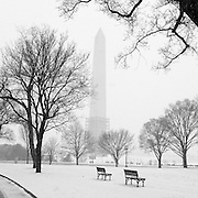 1/21/14 2:34:52 PM -- Washington, DC, U.S.A  --  Snow shrouds the Washington Monument as a storm hits the Nation's Capital.<br /> <br /> <br /> Photo by H. Darr Beiser, USA TODAY Staff