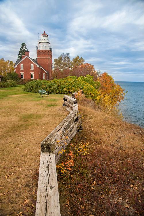The Big Bay Lighthouse on Lake Superior at Big Bay, Michign.