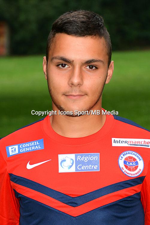 Tony MAURICIO - 19.10.2014 - Portrait Officiel - Chateauroux - Ligue 2 -<br /> Photo : Reignoux / Chateauroux / Icon Sport