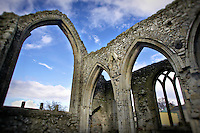 The remains of Castledermot Abbey in County Kildare, Ireland