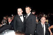 DAVID FURNISH; JONATHAN SAUNDERS, Grey Goose Winter Ball to Benefit the Elton John AIDS Foundation. Battersea park. London. 29 October 2011. <br /> <br />  , -DO NOT ARCHIVE-© Copyright Photograph by Dafydd Jones. 248 Clapham Rd. London SW9 0PZ. Tel 0207 820 0771. www.dafjones.com.