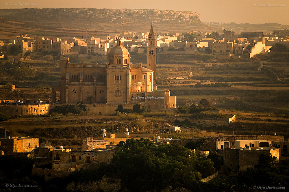 Gharbed in Warm Light, Ta' Pinu Sanctuary - Gharb, Gozo