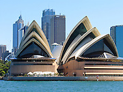 "Sydney Opera House was opened in 1973 on Bennelong Point in Sydney Harbour, Sydney, New South Wales (NSW), Australia. It was conceived and largely built by Danish architect Jørn Utzon after a long gestation starting with his competition-winning design in 1957. Utzon received the Pritzker Prize, architecture's highest honor, in 2003: ""There is no doubt that the Sydney Opera House is his masterpiece… one of the great iconic buildings of the 20th century, an image of great beauty that has become known throughout the world – a symbol for not only a city, but a whole country and continent."" The Sydney Opera House was honored as a UNESCO World Heritage Site in 2007. Published in ""Light Travel: Photography on the Go"" book by Tom Dempsey 2009, 2010."