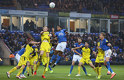 Nathan Thompson of Peterborough United in action with Stephen Quinn of Burton Albion - Mandatory by-line: Joe Dent/JMP - 23/11/2019 - FOOTBALL - Weston Homes Stadium - Peterborough, England - Peterborough United v Burton Albion - Sky Bet League One