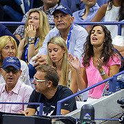 2019 US Open Tennis Tournament- Day Fourteen.   Xisca Perelló, girlfriend of Rafael Nadal of Spain, encourages him from the stands during his match against Danill Medvedev of Russia in the Men's Singles Final on Arthur Ashe Stadium during the 2019 US Open Tennis Tournament at the USTA Billie Jean King National Tennis Center on September 8th, 2019 in Flushing, Queens, New York City.  (Photo by Tim Clayton/Corbis via Getty Images)