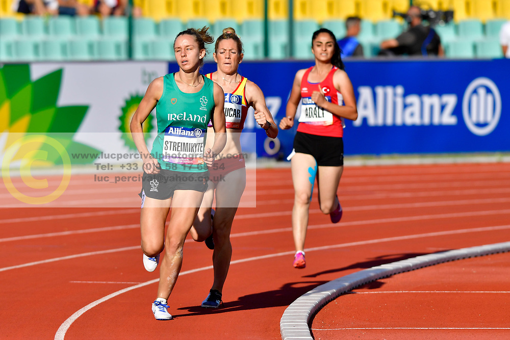 From left to right Greta Streimikyte, IRE, Izaskun Oses Ayucar, ESP, Asili Adali, TUR competing in the T13, 1500m at the Berlin 2018 World Para Athletics European Championships
